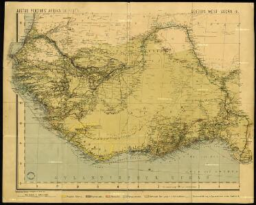 Justus Perthes' Africa (10 sheets), section Western Sudan