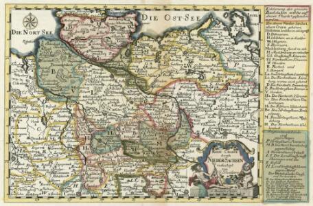 Reise Charte durch Nieder-Sachsen