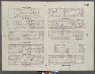 Plate 92: Map bounded by West 37th Street, Eighth Avenue, West 32nd Street, Tenth Avenue