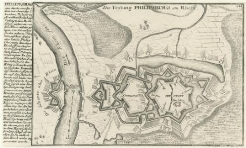Die Vestung Philipsburg am Rhein.