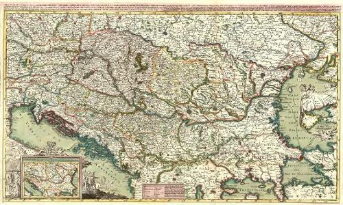 Theatre de la Guerre en Hongrie, Bosnie, Servie, et Tartarie Crimee, en il Grandes Feuilles