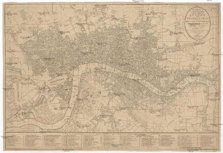 Bowles's new pocket plan of the cities of London and Westminster, with the borough of Southwark