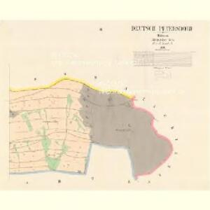 Deutsch Petersdorf - c5742-2-003 - Kaiserpflichtexemplar der Landkarten des stabilen Katasters