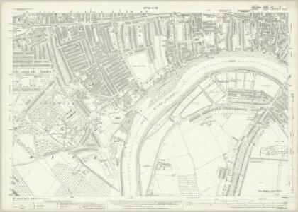 London (1915- Numbered sheets) VIII.2 (includes: Barnes; Chiswick St Nicholas; Hammersmith) - 25 Inch Map