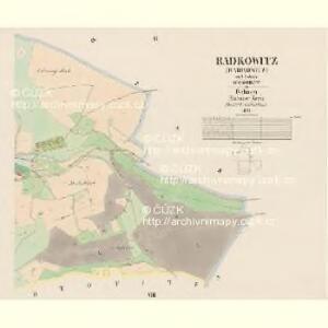 Radkowitz (Radkowicz) - c6356-1-005 - Kaiserpflichtexemplar der Landkarten des stabilen Katasters