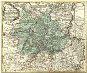 Carte de l'Evêché de Paderborn