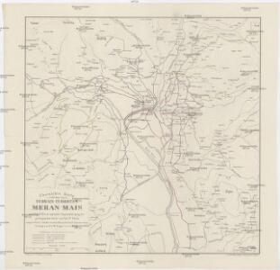 Übersichts- Karte Terrain-Curortes Meran-Mais