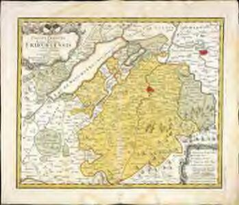 Canton Freiburg sive pagus Helvetiæ Friburgensis cum confinibus