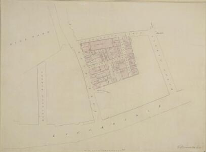 Drawn Plan of the Property belonging to the Crown in Park Lane and Carrington Place
