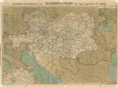 Prochaska ́s Neue Eisenbahnkarte von Österreich-Ungarn für 1898