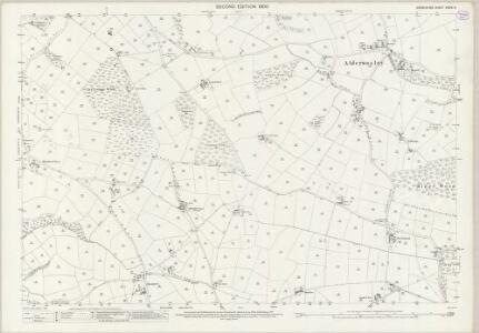 Derbyshire XXXIX.3 (includes: Alderwasley; Ashleyhay; Wirksworth) - 25 Inch Map