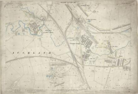 Durham XLII.7 (includes: Bishop Auckland; Shildon) - 25 Inch Map