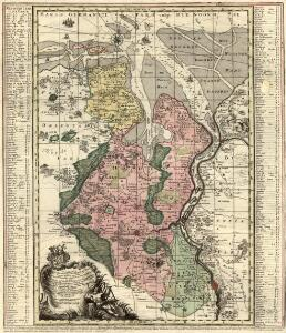 Comitatus Oldenburgici ac Delmenhorstani Sceptro Danico parentis Mappa specialissima Chorographica, novaq; recentissima