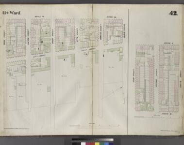 Plate 42: Map bounded by Eighth Street, East River, Third Street, Avenue D, Sixth Street, Avenue C.