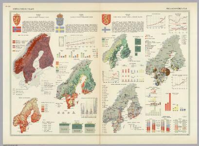 Norway, Sweden, Finland.  Pergamon World Atlas.