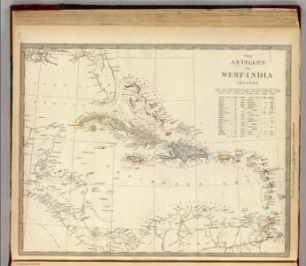 The Antilles or West-India Islands.