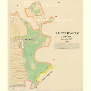 Leitnowitz - c4179-1-002 - Kaiserpflichtexemplar der Landkarten des stabilen Katasters
