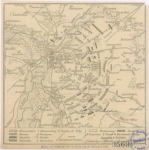 Karte zur Schlacht bei Leipzig