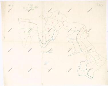 Mapa lesů velkostatku Kout a obce Kdyně