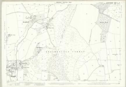 Gloucestershire V.13 (includes: Ripple; Strensham; Twyning) - 25 Inch Map