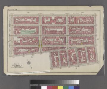 Plate 24: Bounded by E. 4th Street, Avenue B, Clinton Street, Stanton Street, Orchard Street, E. Houston Street and Second Avenue.