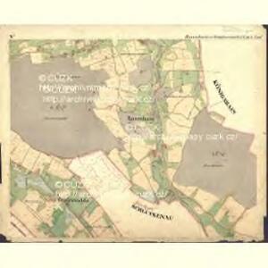Rosenhain - c6598-1-008 - Kaiserpflichtexemplar der Landkarten des stabilen Katasters
