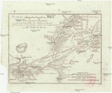 Plan der umliegenden Gegend von Athen