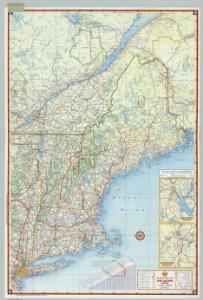 Shell Sectional Map No. 1 - New England States.
