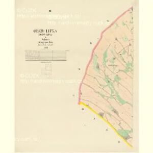 Ober-Lipka (Horny-Lipka) - c2089-1-003 - Kaiserpflichtexemplar der Landkarten des stabilen Katasters