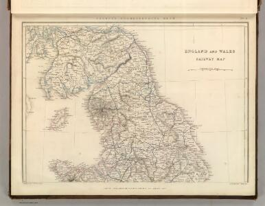 England and Wales Railway Map (northern half).