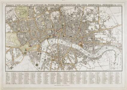 Tegg's new plan of London, &c.