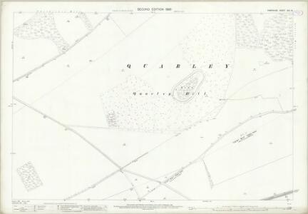Hampshire and Isle of Wight XXII.16 (includes: Amport; Grateley; Quarley) - 25 Inch Map
