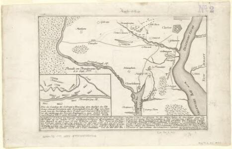 Plan der landung der Gebrüdere Howe, bey dem ausfluss des Elk Strom ...Lords Cornwallis
