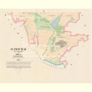 Jetischau (Getissow) - c2868-1-002 - Kaiserpflichtexemplar der Landkarten des stabilen Katasters