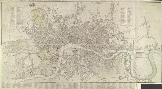 CARY'S New and Accurate Plan of LONDON AND WESTMINSTER, the Borough of SOUTHWARK and parts adjacent 210