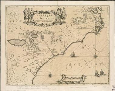 Virginiae partis australis et Floridae partis orientalis, interjacentium[que] regionum nova descriptio