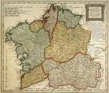 Charta geographica regnum Galæciam (hispanice Galicia) in suas provincias divisum repræsentans