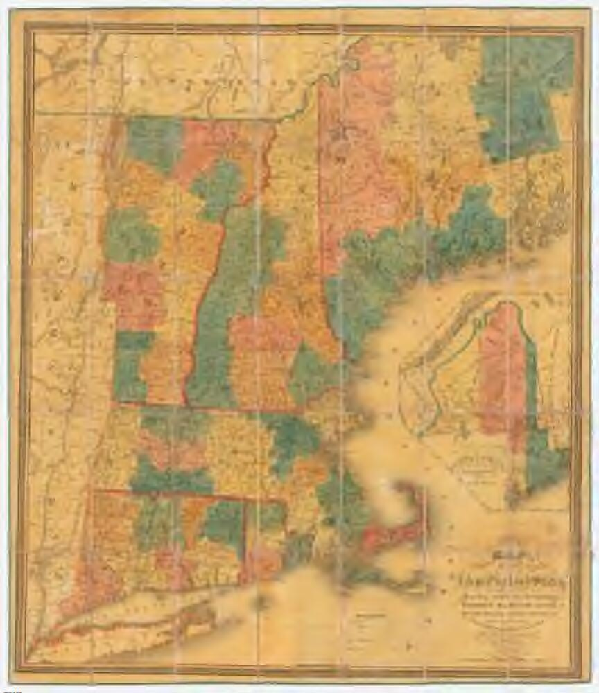 A map of the New England states : Maine, New Hampshire, Vermont ...