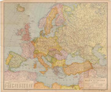 Neubertova přehledná mapa Evropy