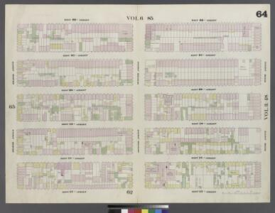 Plate 64: Map bounded by West 22nd Street, Sixth Avenue, West 17th Street, Eight Avenue