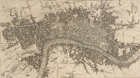 A NEW and Correct PLAN of LONDON WESTMINSTER and SOUTHWARK with the New Buildings to the Year 1770