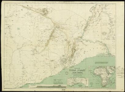 A Map of the Gold Coast and Inland Countries between and beyond the Pra and Volta by the Basel Missionaries on the Gold Coast