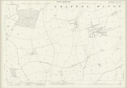 Worcestershire XXII.3 (includes: Bromsgrove; Dodford With Grafton; Stoke Prior; Upton Warren) - 25 Inch Map
