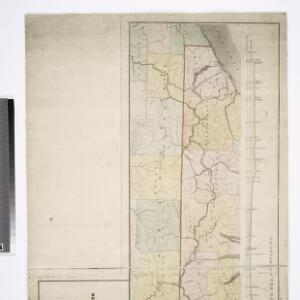 Map of the route of the proposed New York & Erie Railroad, as surveyed in 1834 / reduced from the plans as returned by Benjn. Wright, Civil Engineer ; D. R. Harrison, sc.