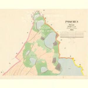 Poschen - c6000-1-001 - Kaiserpflichtexemplar der Landkarten des stabilen Katasters