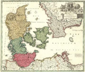 Regni Daniae in quo sunt Ducatus Holsatia et Slesvicum Insulae Danicae, Provinciae Iutia Scania Bleringia Nova Tabula
