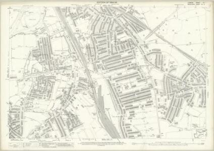 London (Edition of 1894-96) XII (includes: Hornsey St Mary; Tottenham; Wood Green) - 25 Inch Map