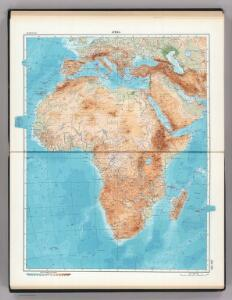155-156.  Africa, Physical.  The World Atlas.