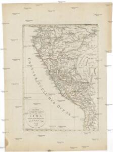 Charte der Provinz oder Audiencia von Lima oder des alten Königreichs Peru