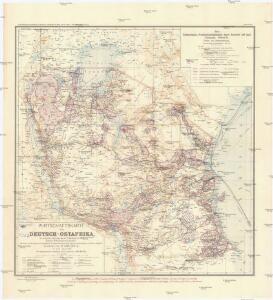Wirtschaftskarte von Deutsch-Afrika